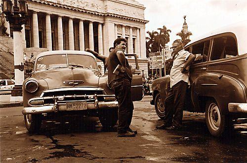 Cuba taxi drivers